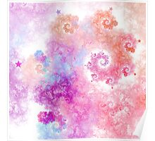 Cotton Candy - Abstract Fractal Artwork Poster