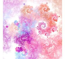 Cotton Candy - Abstract Fractal Artwork Photographic Print