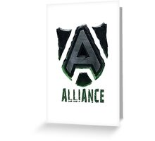 Dota - Warcraft Alliance Greeting Card