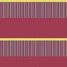Polka Dots Stripes Funky Pink Blue Red Yellow Pattern by Beverly Claire Kaiya