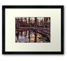 Twilight Sparkles over Cattail Trail Framed Print