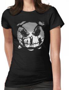 The Pumpkin Kiss Womens Fitted T-Shirt