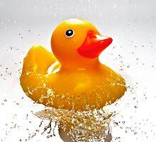 Duck! - Pillow by BlueShift