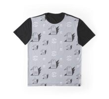 Birds and eyes steel blue Graphic T-Shirt