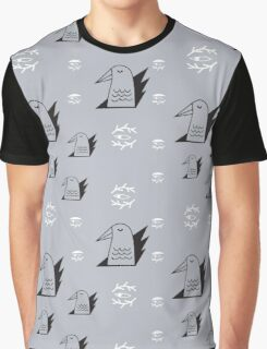 Birds and eyes seamless pattern Graphic T-Shirt