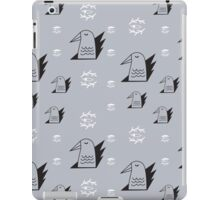Birds and eyes steel blue iPad Case/Skin