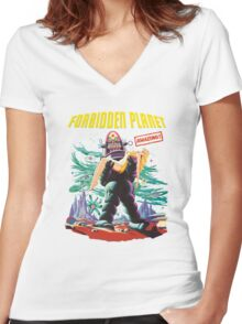Forbidden Planet Women's Fitted V-Neck T-Shirt