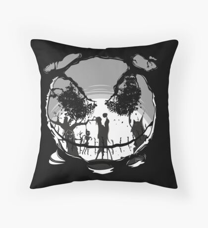The Pumpkin Kiss Throw Pillow
