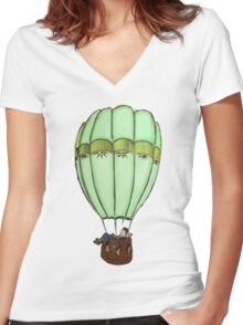 In the sky Women's Fitted V-Neck T-Shirt