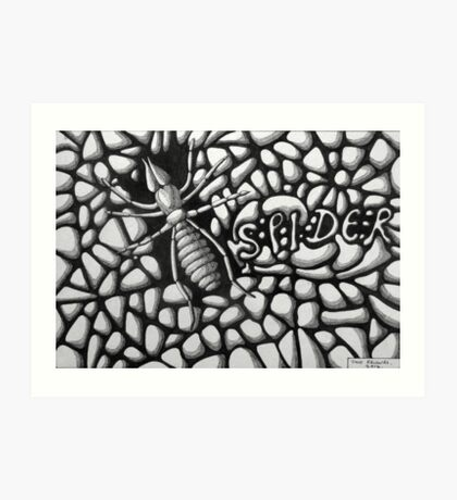 253 - SPIDER - DAVE EDWARDS - INK - 2014 Art Print
