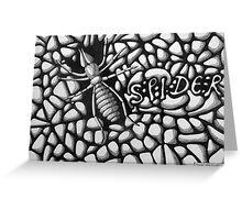 253 - SPIDER - DAVE EDWARDS - INK - 2014 Greeting Card