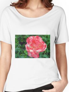 Macro on beautiful pink flower in the garden. Women's Relaxed Fit T-Shirt