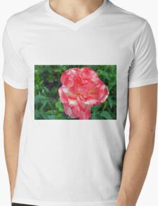 Macro on beautiful pink flower in the garden. Mens V-Neck T-Shirt