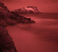 Infra Red Island - Tenby, Pembrokeshire by Mark Haynes Photography