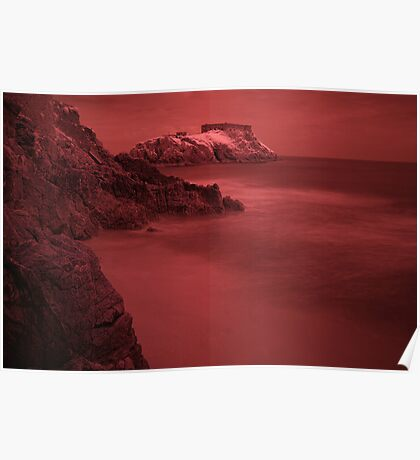 Infra Red Island - Tenby, Pembrokeshire Poster