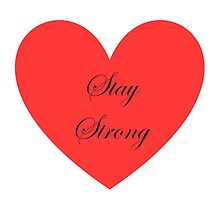 Stay Strong Pillow by Lizzy xxx