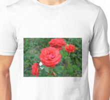 Red roses, natural background. Unisex T-Shirt
