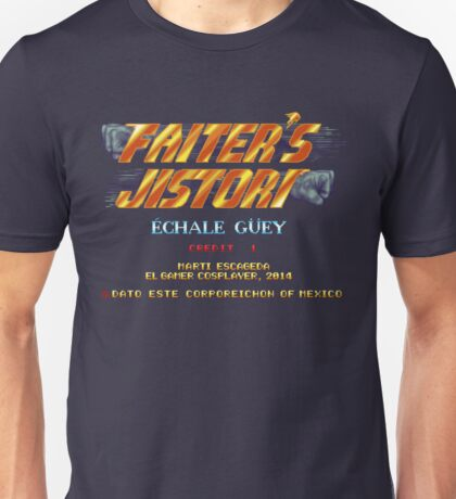 Fighter's History - Title Screen Spoof Unisex T-Shirt