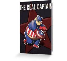 The real captain america Greeting Card