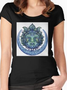 Blue Spiritual Sun and Moon Women's Fitted Scoop T-Shirt