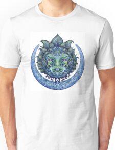 Blue Spiritual Sun and Moon Unisex T-Shirt