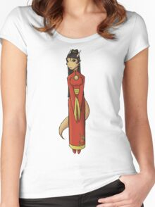 Oriental Dragon  Women's Fitted Scoop T-Shirt