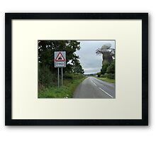 Shoggoths for 2 miles. Framed Print