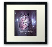 A universe of La Dispute Framed Print