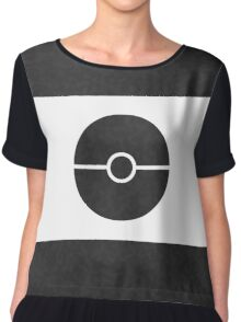 Pokemon CAMO Black Chiffon Top