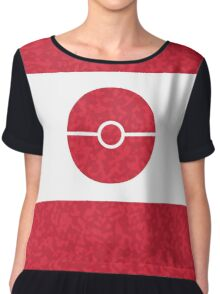 Pokemon CAMO Red Chiffon Top