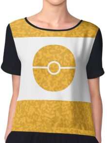 Pokemon CAMO Yellow Chiffon Top