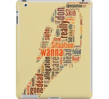 Michael Jackson They Don't Care About Us Typography iPad Case/Skin