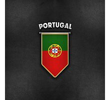Portugal Pennant with high quality leather look Photographic Print