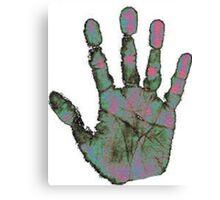 Heatmap Handprint Canvas Print