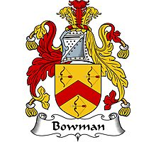 Bowman Coat of Arms / Bowman Family Crest Photographic Print