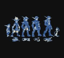 Jak and Daxter Saga - Blue Sketch Kids Clothes