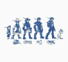 Jak and Daxter Saga - Blue Sketch Kids Tee