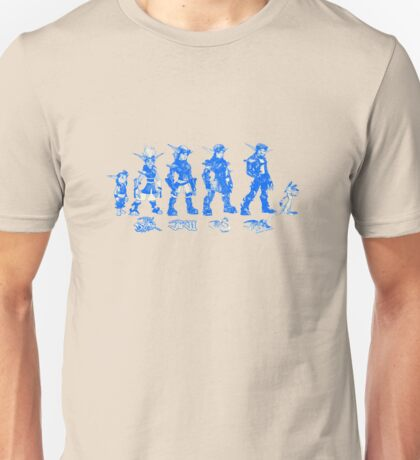 Jak and Daxter Saga - Blue Sketch Unisex T-Shirt