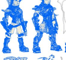 Jak and Daxter Saga - Blue Sketch Sticker