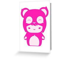 Kawaii Kokeshi Greeting Card