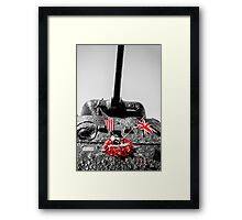 Slapton Sands Memorial Sherman Framed Print