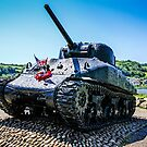 Slapton Sands Sherman by Chris L Smith