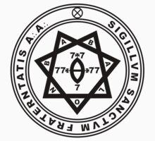 Aleister Crowley Seal - Occult - Thelema (Black On White) by James Ferguson - Darkinc1