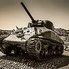 Sepia Slapton Sherman by Chris L Smith