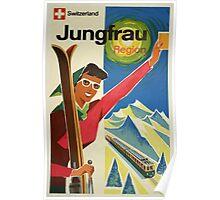 Switzerland Jungfrau Region Vintage Travel Poster Poster