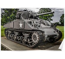 Veterans Sherman Tank Poster