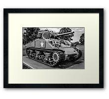 Veterans Sherman Tank Framed Print