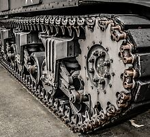 Sherman Tank Tracks by Chris L Smith