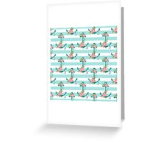 Anchors and flowers Greeting Card