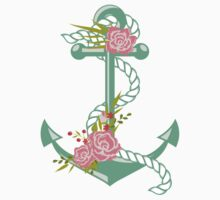 Anchors and flowers One Piece - Long Sleeve